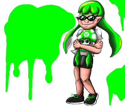 Inkling and Vinesquid by Lizzaroro