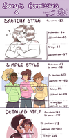 Commission Prices by Sangled