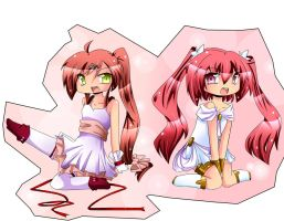 Red and pink chibi by Tenshi-MiharU