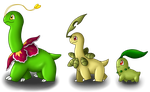 Chikorita Evolution Line by Beagon