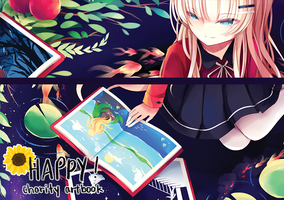 Happy Artbook Preview by raeinni