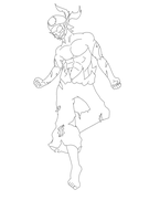 Sacrier W.I.P finished Lineart by MourantLune