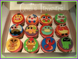 Moshi Monster Cupcakes by gertygetsgangster