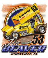 Sprint car Driver Tee design by Bmart333