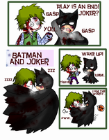 Batman and Joker 'Sleep' by pink-snow