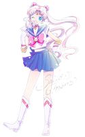 Sailor Moon - Prototype Moon render (png) by orihimeyuuka