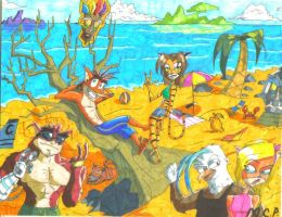 Summer Vacation On N. Sanity Island by mcp100