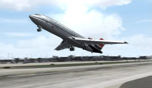 Red-tailed 727 by Boeing787