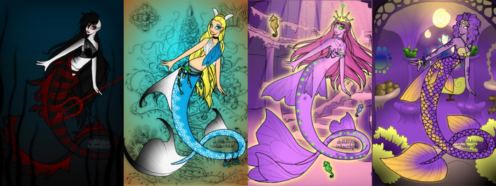 Adventure Time Mermaids by Doodlechick13