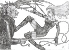 The battle between two titans by Carolyne