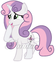 Adult Sweetie Belle by iPandacakes