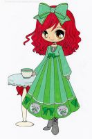 Annabelle the Cafe Visitor Colored by Maiko-Girl