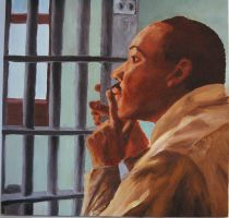 Martin Luther King Jr in Jail by DavidLeeSoderlind