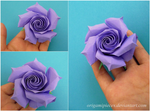 Purple Origami Rose by OrigamiPieces