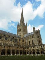 Norwich Cathedral by bicyclegasoline