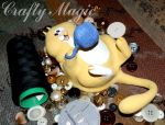 Chubby Kitty playing with yarn_Scenic04 by Crafty-Magic