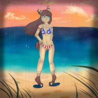 Beach :remake: Ms USA by Delta-kitty