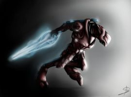 Sangheili Drawing by DarkMoogle5150