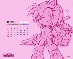 Amy Rose August Wallpaper by Aniken-Style