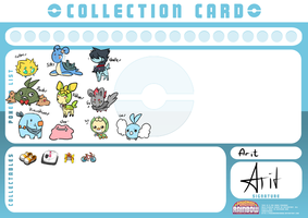 Pokemon Rainbow - Collection Card - Arit by Magicalcat