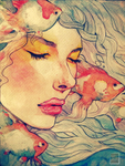 Goldfish In Dreams by rinnemarielle