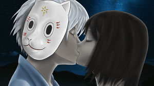 Gintaru - first fanart kiss by Yoake-Chan