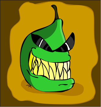 Badass Biting Pear by DoubleSNL