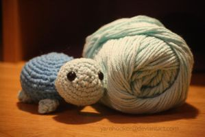 blue turtle amigurumi by theyarnbunny