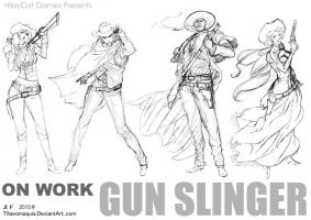 Gun Slinger Characters 2010 by titanomaquia