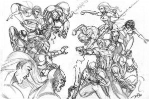 avengers vs dark avengers b2 by OngJ