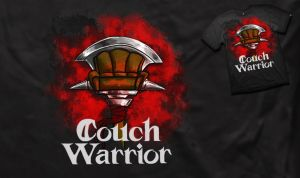 couch warrior t-shirt design by JKAM2