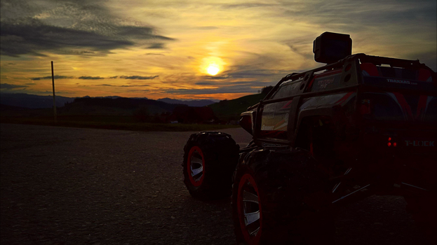 Sunset with RC - Car by Redstone--Army