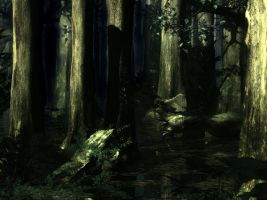 STOCK BG 21 woodland woods by MaureenOlder
