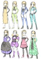 outfits practice by ManiacPaint
