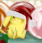 Christmas Pikachu by KirschKid