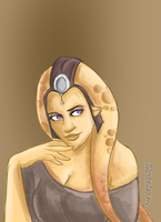 Devious Twi'lek by lilrebelart