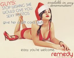 Christmas Boudoir Ad by remydarling