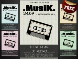 Musik Party-Club Flyer Template FREE by Hotpindesigns