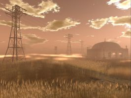 Powerlines across the Pampas by ChisatoWatanabe