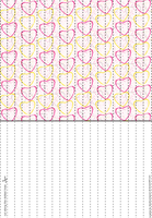Hearts 8 Lucky Paper Stars paper by Heisotsu