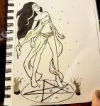 Inktober #6 - Oracle Witch by Lekana