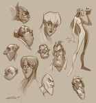 Character sketches by PReilly