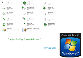Aero Green Tailless Cursors by Edercoree
