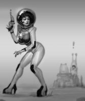 Space Girl by Robotpencil