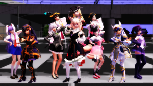 MMD Video - Paranoid Mobile Girls (Lol version) by MadNimrod