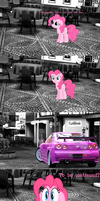 GT5 comic - Pinkie Pie's new car by nestordc