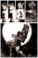 Werewolf - transformation Comic Style by joseph-sweet