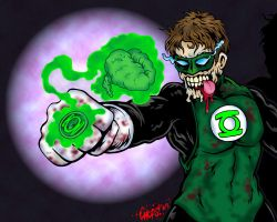 Zombie Green Lantern by MonsterInk