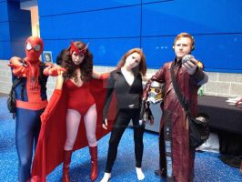My Starlord, Scarlet Witch, Spiderman, Black Widow by GingerBaribuu