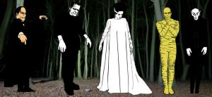 Classic Gothic Horror Monsters by StevenEly